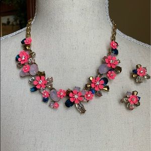 J. Crew Posey Statement necklace and earrings